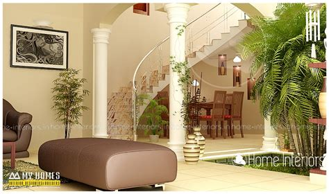 kerala home design with courtyard fascinating contemporary budget home courtyard interior design