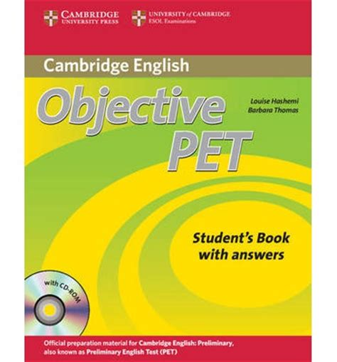 objective pet student s book with answers with cd rom louise hashemi 9780521732666