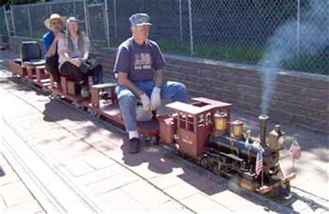 backyard trains you can ride live steam trains