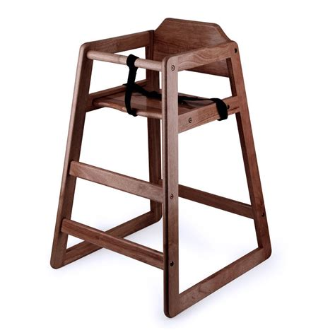 high chair new restaurant style wooden high chair with finish ebay