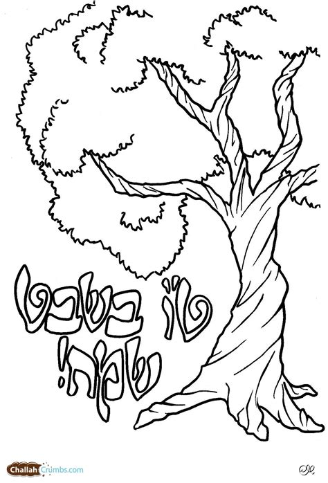 Tu B Shvat Coloring Pages tu b shvat archives challah crumbs