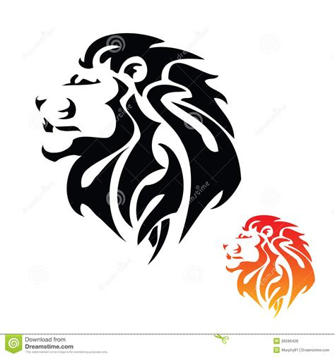 tribal lion head tattoo tribal stock vector illustration of