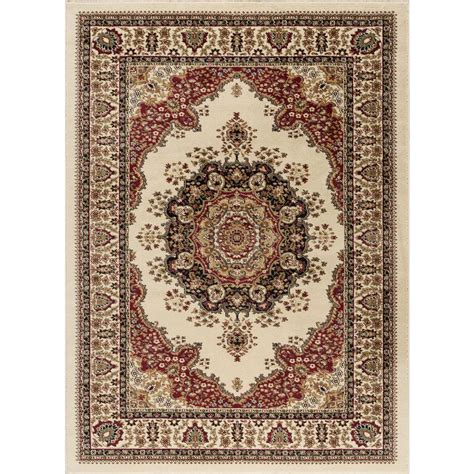 10 X 10 Area Rugs Tayse Rugs Sensation Ivory 7 Ft 10 In X 10 Ft 3 In Traditional Area Rug 4702 Ivory 8x11