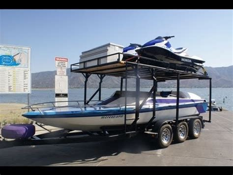 kayak between wakeboard boats pwc and boat launching video by south mountain yachts 949