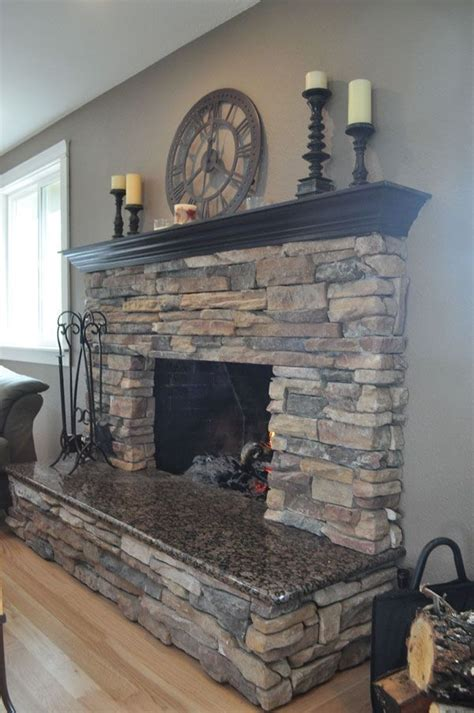 stone around fireplace fireplaces stone granite could stone the bottom half like