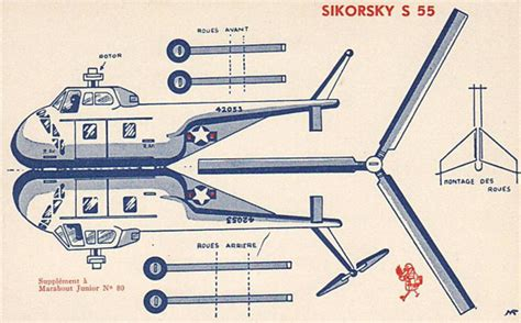 Cut Out And Make Paper Models - cut paste free printable antique helicopter present