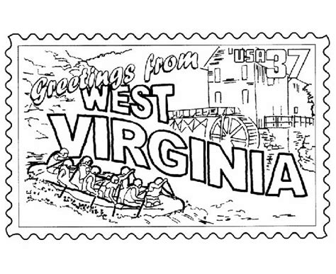 coloring page virina 50 best images about state coloring pages on pinterest