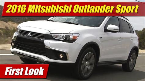 mitsubishi outlander sport 2016 blue first look 2016 mitsubishi outlander sport testdriven tv