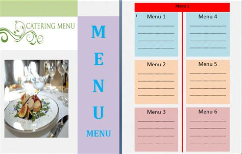 Catering Menu Design Templates by Menu Template Gatewaytogiving Org