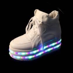 sale colorful led light up platform shoes