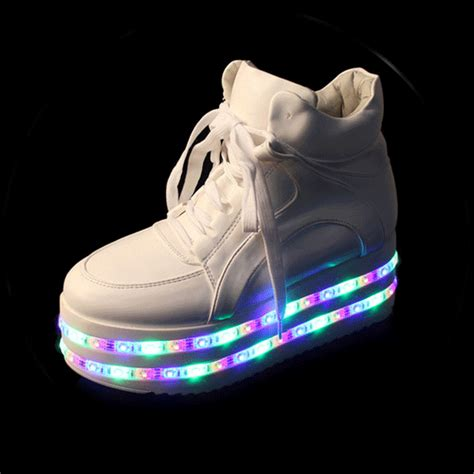 lighting sneakers sale colorful led light up platform shoes