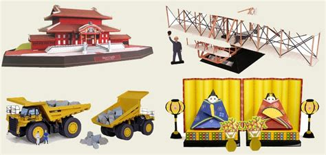 Canon Papercraft Castle Of Snow - dump truck wright flyer and shuri castle canon