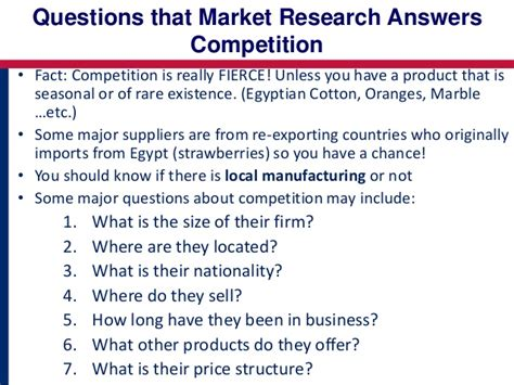 where does the research question go in a paper market research and trade data analysis