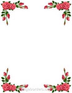 Floral border microsoft word and words on pinterest