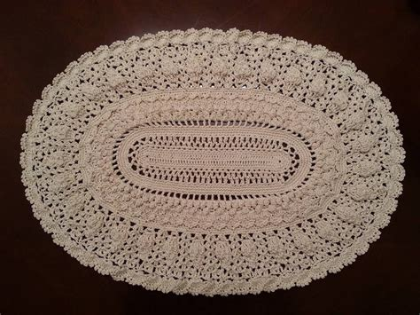 youtube doily pattern crochet doily elegant oval doily part 6 youtube
