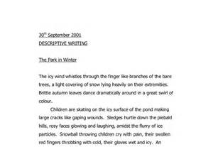 Winter Descriptive Essay by The Park In Winter A Level Psychology Marked By