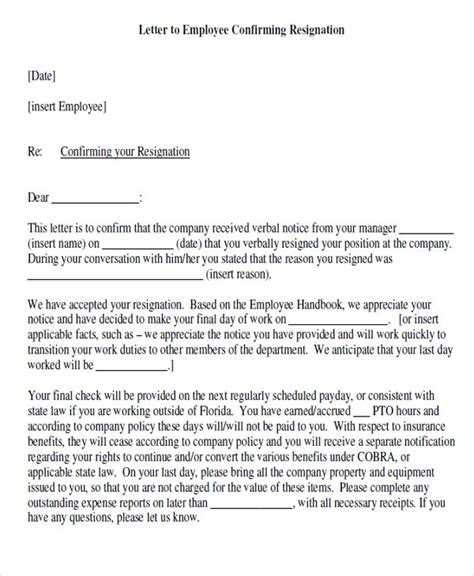 Hr Reply To Resignation Letter 65 Sle Resignation Letters