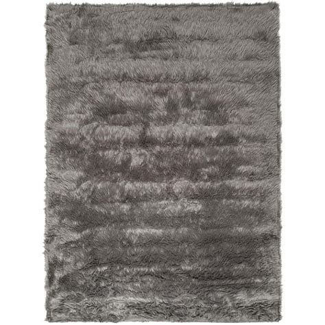 Faux Sheepskin Area Rug Safavieh Faux Sheepskin Gray 3 Ft X 5 Ft Area Rug Fss235d 3 The Home Depot