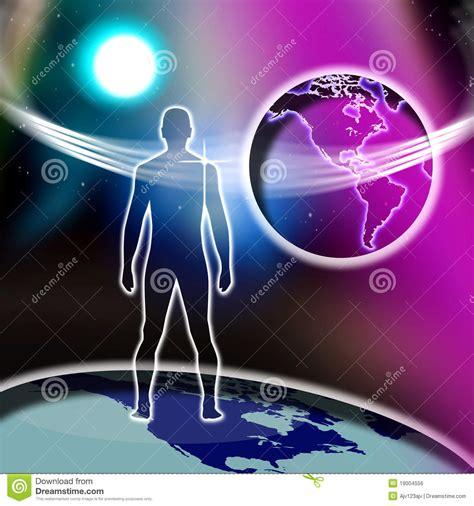imagenes mundo espiritual mundo do homem espiritual imagem de stock royalty free