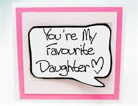 Funny Birthday Card for Daughters. Cute Birthday Card. Pink Note Card for Birthdays. ? Kat n