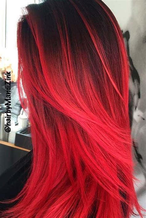 ideas  red ombre  pinterest fire ombre