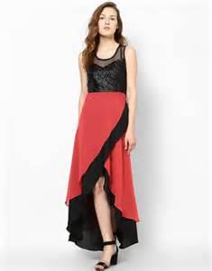 flipkart com athena women s high low dress buy cherry