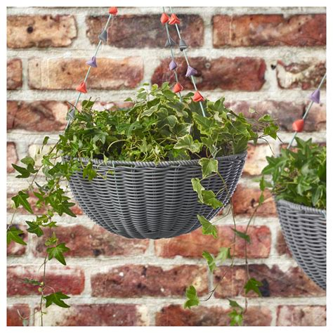 ikea outdoor planters solrosfr 214 hanging planter in outdoor multicolour 34 cm ikea