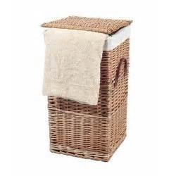 Small Natural Wicker Laundry Basket With Hinged Lid Wicker Laundry With Lid