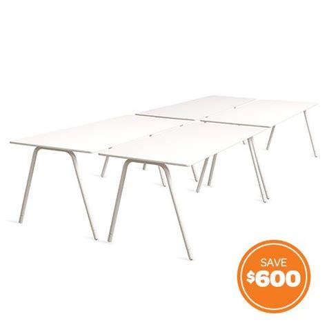 poppin office furniture white flatiron desks set of 4 modern office furniture