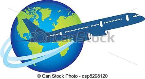 clipart aereo clipart vettoriali di pianeta sopra aereo aereo