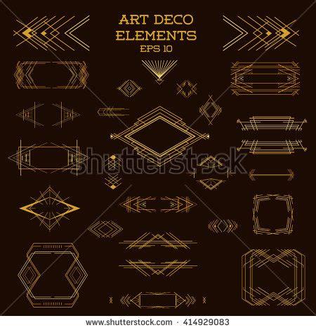 art deco design elements vector artdeco stock photos images pictures shutterstock