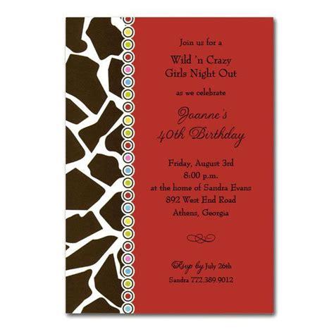 printable birthday invitations adults brown giraffe print on red adult birthday invitations