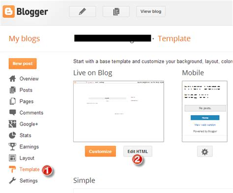hilary clean blogger template documentation