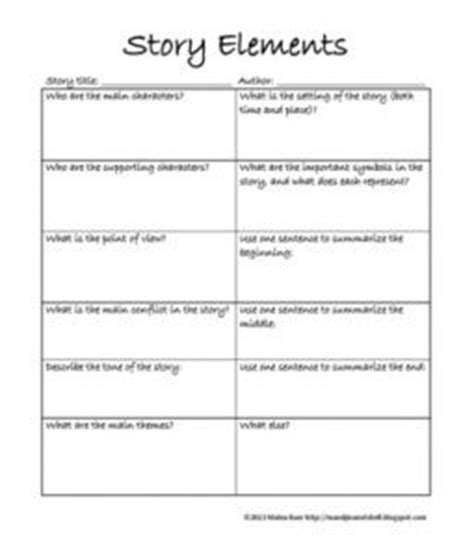 Story Element Worksheets by Pin By Villalon On Language Lessons And Ideas
