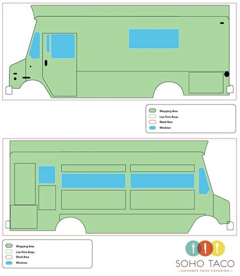 food truck layout template gourmet food truck catering barbies wrap design