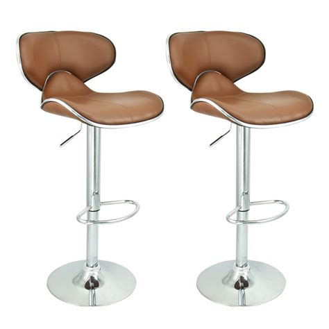 Brown Leather Bar Stools With Back Dining Kitchen Beautiful Bar Stools With