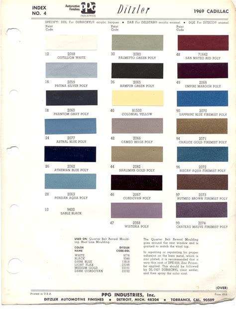 stx cadillac paint codes images