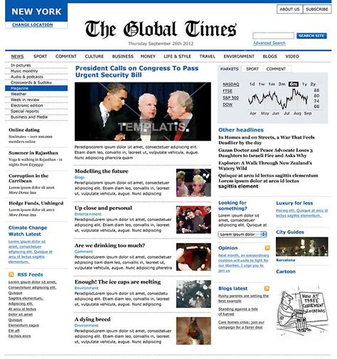 news site template free newspaper template for mac