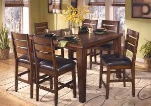 Bar Top Dining Room Furniture Larchmont Square Counter Height Dining Table And 6 Chairs