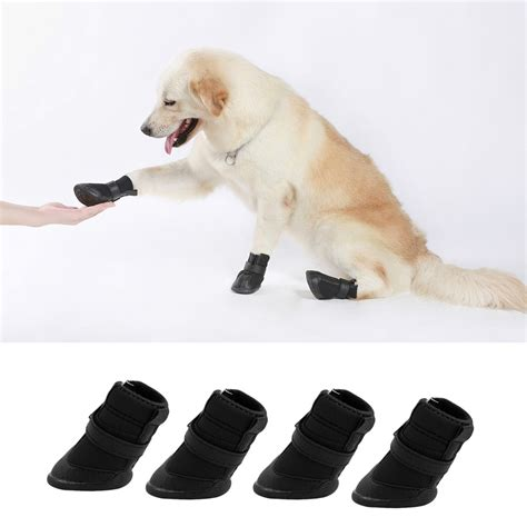 booties for dogs 4pcs black waterproof shoes boots shoes for pets small dogs puppy oe ebay