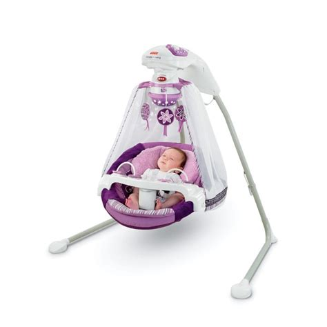 purple infant swing fisher price sugar plum starlight cradle n swing free