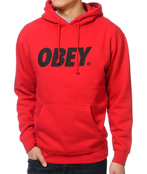 Exclusive Hoodie Tinju Rocky Balboa obey font pullover hoodie at zumiez pdp