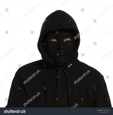 Jaket K125 Out Of Line Hoodie a person undercover wearing a black mask and black hoodie