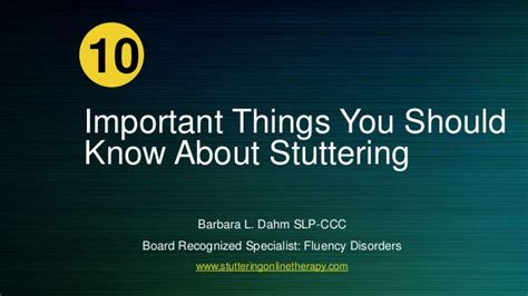 10 Facts About That You Need To by 10 Top Facts About Stuttering You Need To