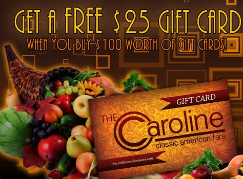 Give A Gift Card Online - give the gift of the caroline and get a free gift card for yourself the caroline