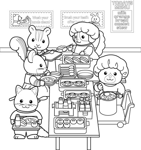 calico critters coloring pages coloring home