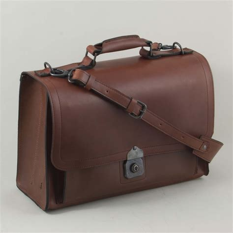 Handmade Leather Satchel - the briefcase satchel handmade leather briefcase by