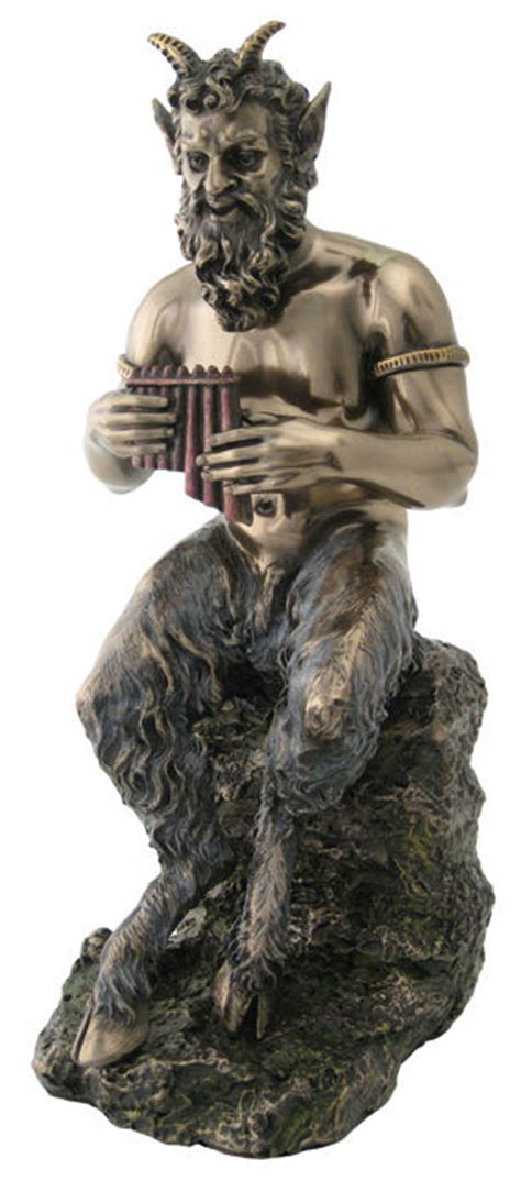 Home Of The God Pan by Pan Flute Faun Satyr Statue Sculpture Figurine