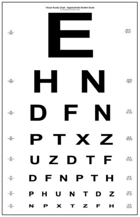 printable eye chart letter size 3squeezes august 2013