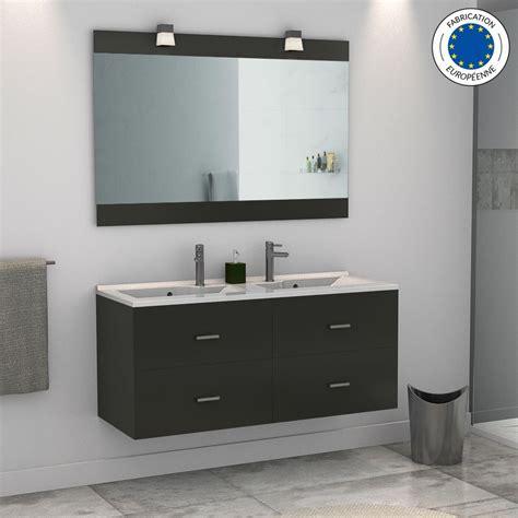 Charmant Meuble Sous Vasque Salle De Bain Pas Cher #4: meuble-salle-de-bain-double-vasque-rosa-120-gris-brillant.jpg